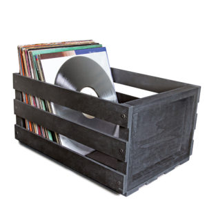 WOODEN RECORD STORAGE CRATE – CALIBER AUDIO