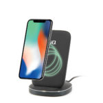 IQ WIRELESS QI CHARGING STAND W/ 1 PORT QC 3.0 CHA